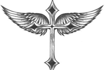 wings cross tattoos