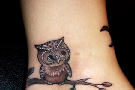cute owl tattoo idea 827x1024