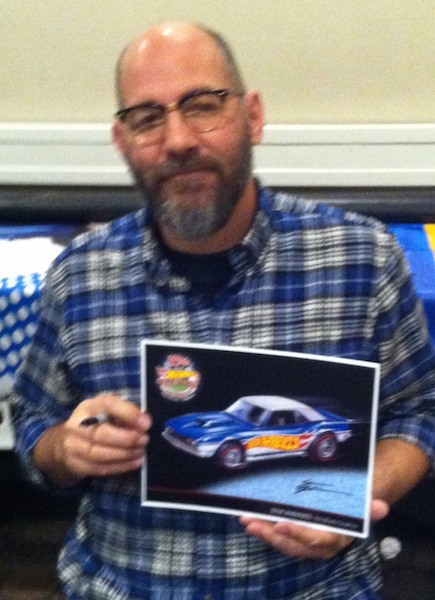 Steve Vandervate presents one of his creations, a custom first generation Camaro.