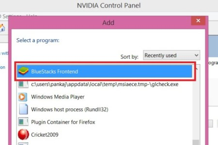 add bluestacks frontend nvidia graphics