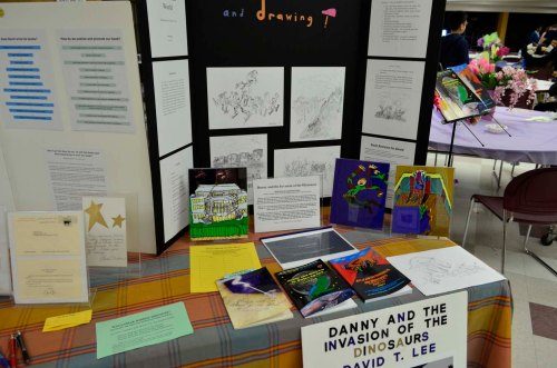 Literacy Night 2014 (David's book table)