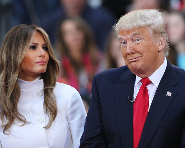 Donald Trump e a esposa Melania (Foto: Getty Images)