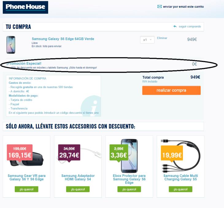 Phone House oferta engañosa 4