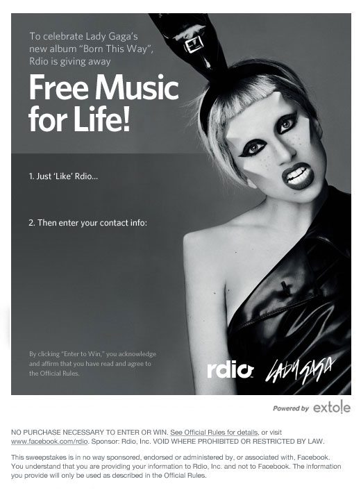 rdio promo Free Music For Life From Rdio