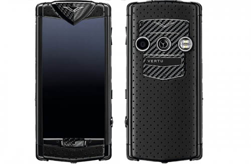 Constellation Black Neon Luxury Mobile Phone by Vertu