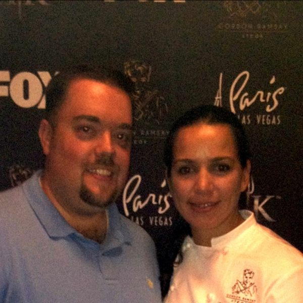 chef christina wilson chris rauschnot 24k Winner of Hells Kitchen Christina Wilson Interviewed at Gordon Ramsay Steak Las Vegas