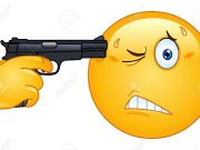 emoticon-pointant-un-pistolet-sur-sa-t-te-banque-dimages