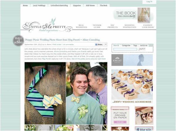 preppy wedding photo shoot on style me pretty
