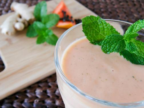 Papaya Mint Ginger Smoothie | Travel Cook Tell