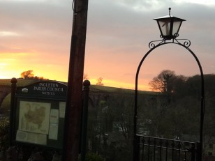 ingleton at sunset
