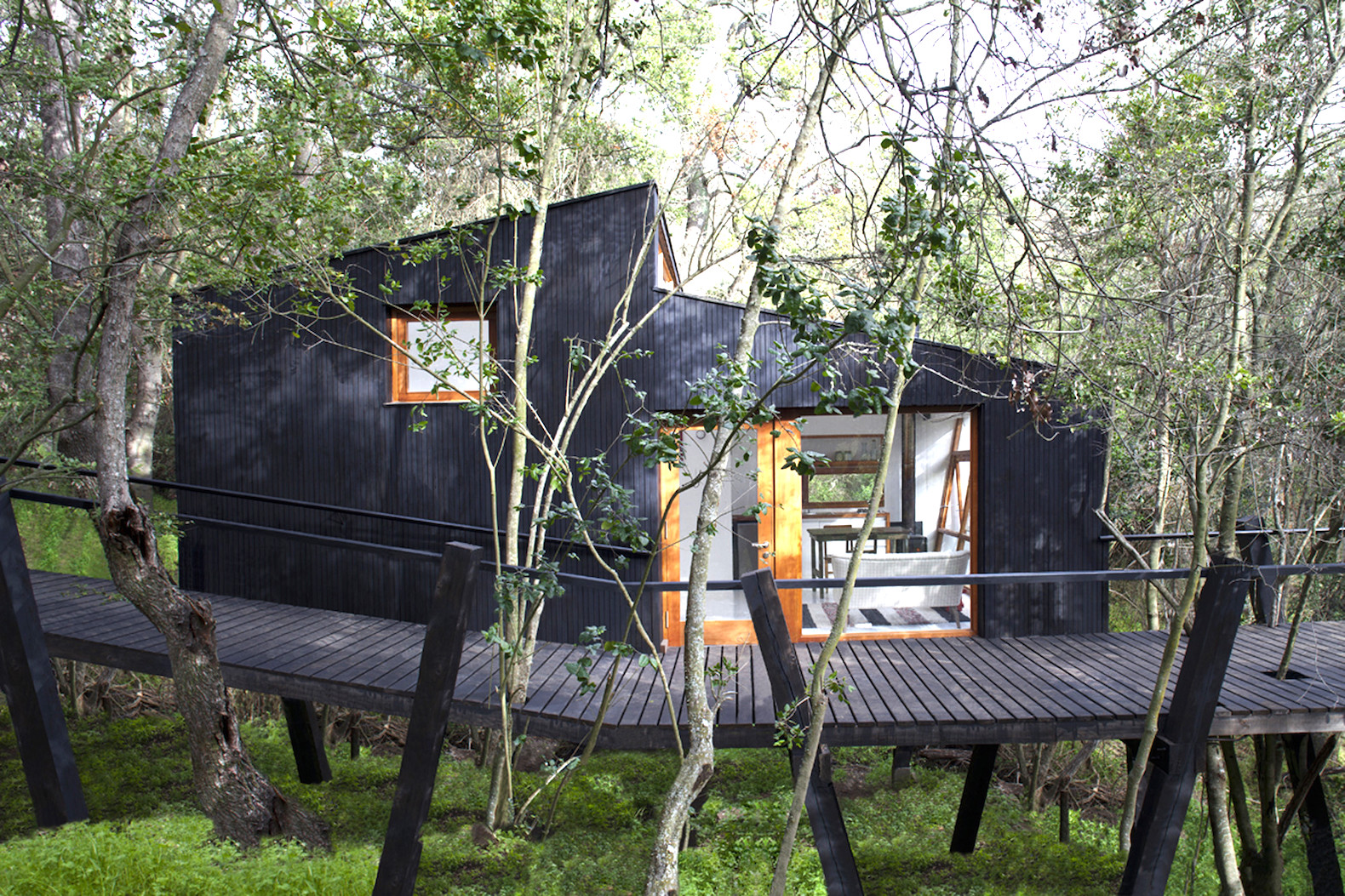 Classy Chilean Forest House On Stilts Inhabitat Green Architecture House On Stilts Minecraft House On Stilts Beach Casa Quebrada Is A Tiny Haven Immersed curbed House On Stilts