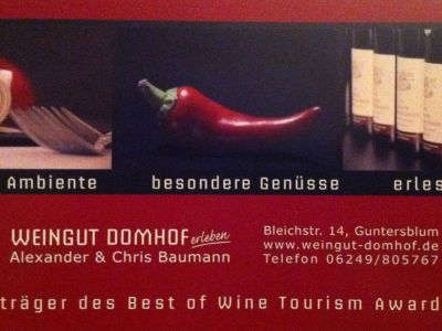 Web and Wine: Weingut Domhof