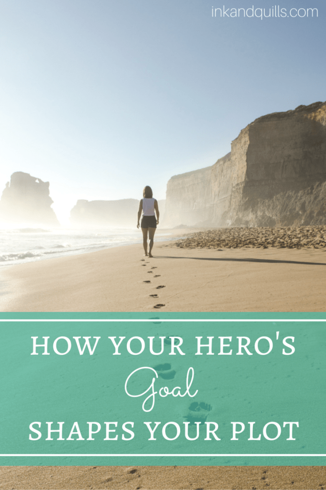 How your hero's #goal drives your #plot, and how you can use it to your advantage.