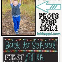 First Day of School Photo Prop Signs... Free Printables!