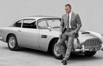 Daniel Craig y AM DB5