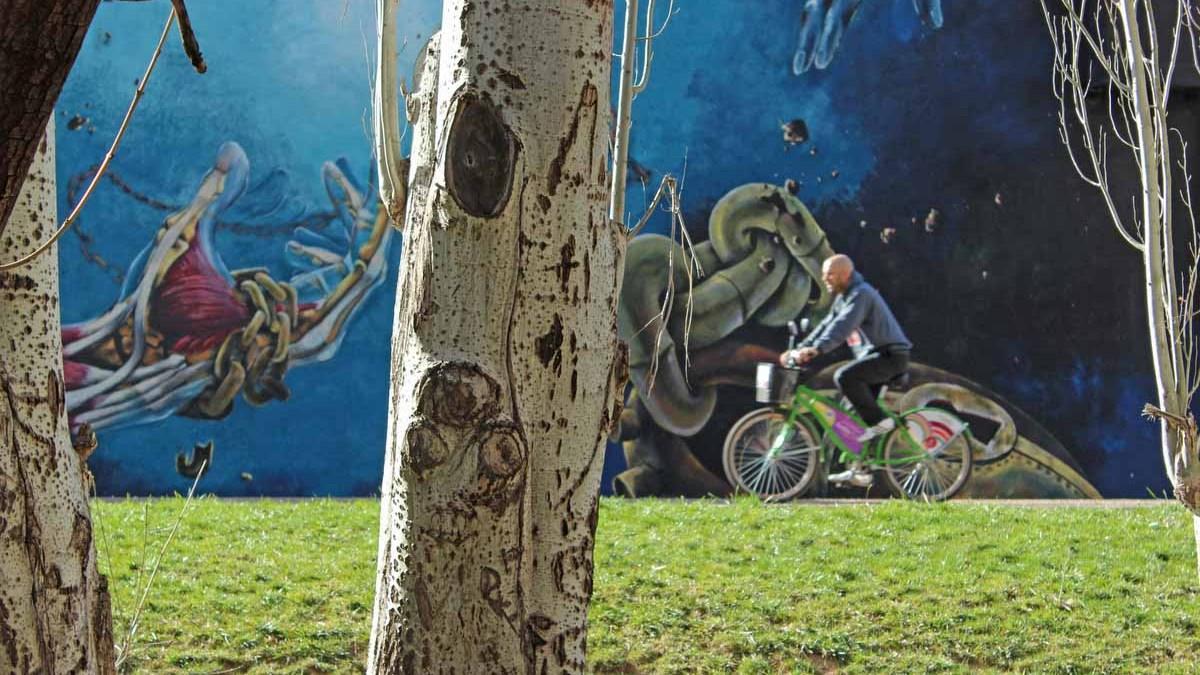 Resultado de imagen para ciclovia godoy cruz y sus murales