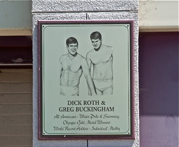 Roth_Buckingham plaque at Menlo-Atherton High School