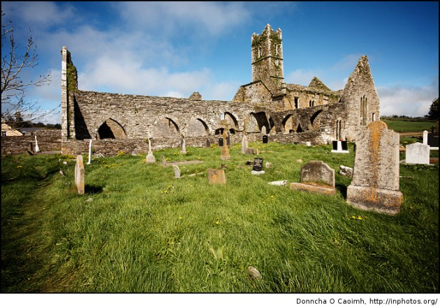 Timoleague Abbey and graveyard