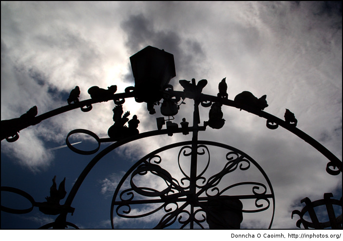 Gate in Silhouette