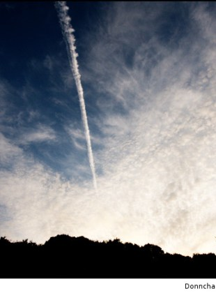 Chemtrails and Clouds and Evening Sky
