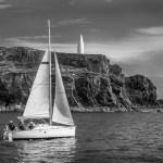 Sailing past the Baltimore Beacon