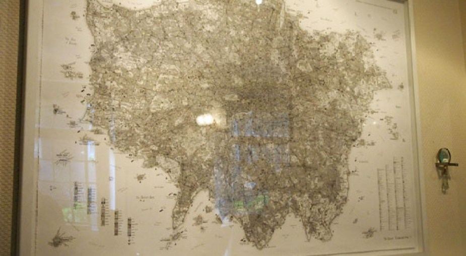 Giant map of London at Charles Lamb