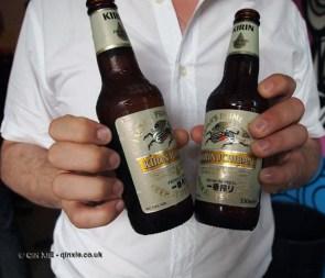 Two bottles held at Kirin Ichiban Yatai