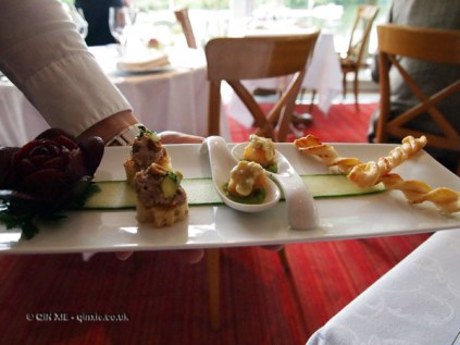 Canapés, The Waterside Inn, Bray
