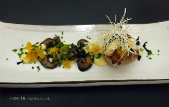 Roasted scallop with yuzu truffle egg sauce, Wabi, Holborn