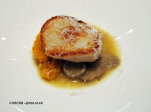 Scallop and mushroom amuse bouche, Phil Howard's The Square, Mayfair