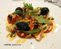 Warm salad of monkfish with Jerusalem artichoke, rockets, beignets, Phil Howard's The Square, Mayfair