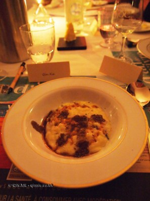 Black winter truffle risotto, brown butter, Pays d'Oc dinner at Gauthier Soho