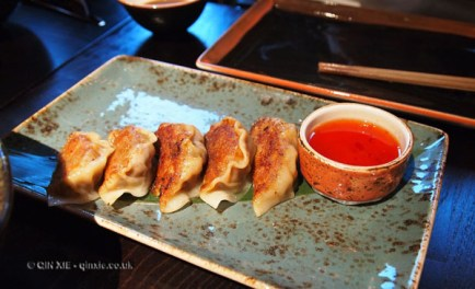 Duck and foie gras gyoza, Buddha Bar, London