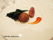 Crispy lamb sausage, Villa Majella, Abruzzo