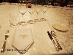 Table setting, Villa Majella, Abruzzo