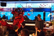 Lion dance, Chinese New Year at Yauatcha, London