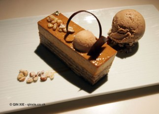 Walnut, salted caramel and iced coffee, Chinese New Year at Yauatcha, London