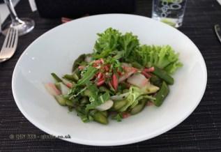 Asparagus salad at Caravano, Food in Baden-Württemberg