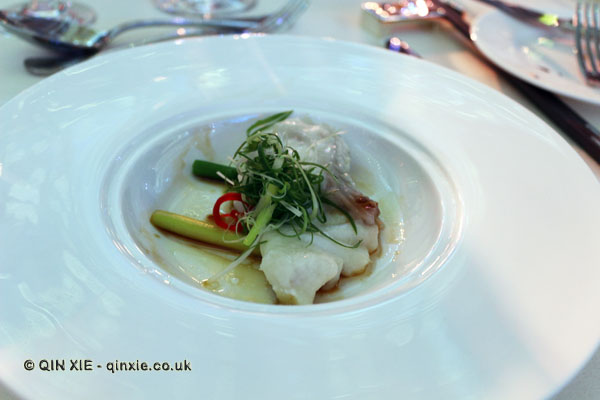 Steamed giant grouper, scallion, light soy sauce, Sofitel Gala, Sofitel Legends People's Grand, Xian