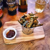 Okra tempura, Zoe's Ghana Kitchen, The King & Co