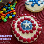 Easy Captain America Sugar Cookies for Your Little Heroes!