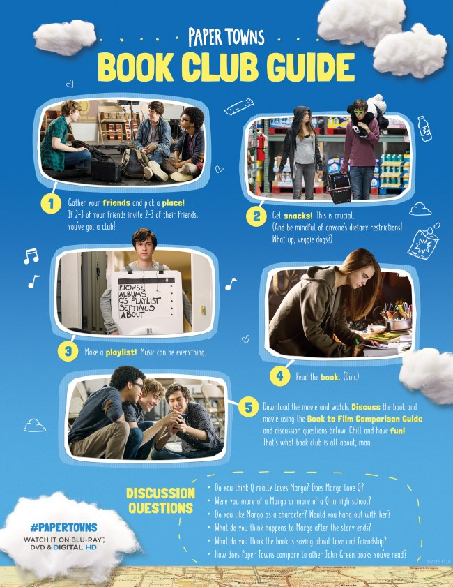 Paper Towns BookClub Printable