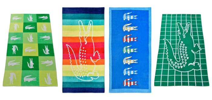 Lacoste Beach Towels are Big and Beautiful