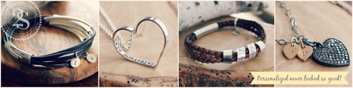 Handcrafted, Personalized, Hand Stamped, Artisan Jewelry & Accessories 2 sisters handcrafted Canadian company  Secret Spinning Message Bracelets