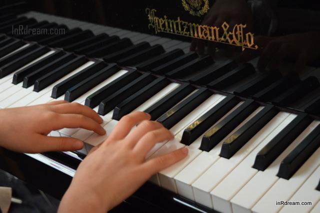 Children playing piano. Piano recital, Christmas Piano recital
