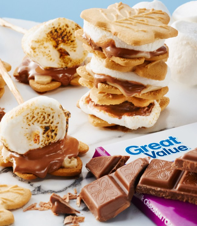 Maple S'Mores recipe , Great Value BBQ, Great Value Food, Make Summer Great, Great Value Walmart, Walmart Canada, Walmart recipes, Great value recipes, Dining menu for BBQ, Simple entertaining,