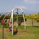 Swing with MT Fuji in background