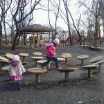 New playground equipment at Isanuma