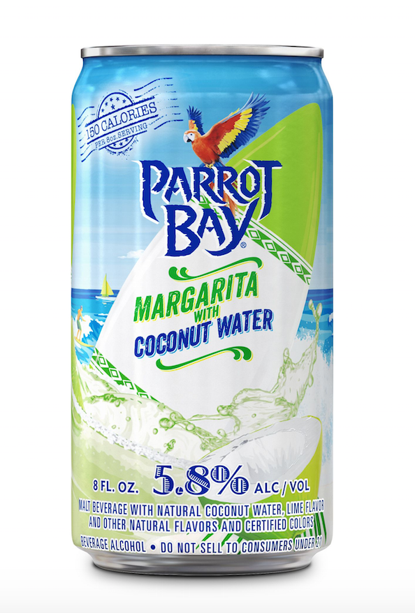 Parrot Bay Margarita with Coconut Water!