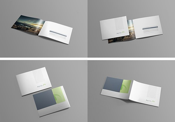 75  Free PSD Magazine  Book  Cover   Brochure Mock ups A4 Landscape Brochure Free Mock up Template